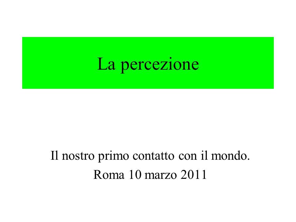 Il nostro primo contatto con il mondo. Roma 10 marzo 2011