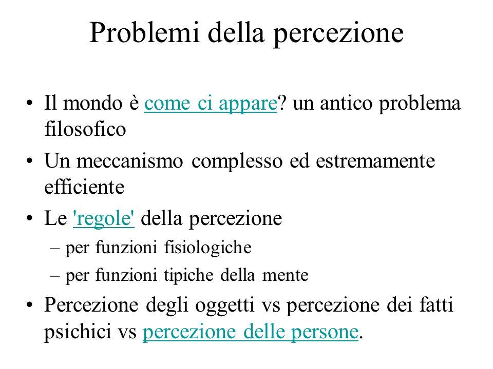 Problemi della percezione