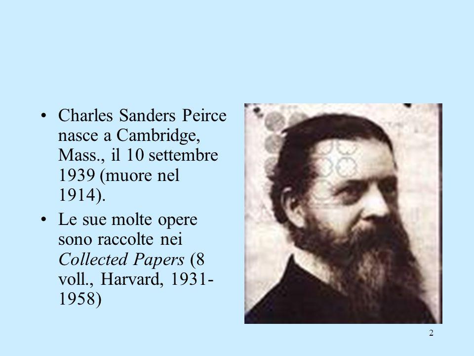 Charles Sanders Peirce nasce a Cambridge, Mass