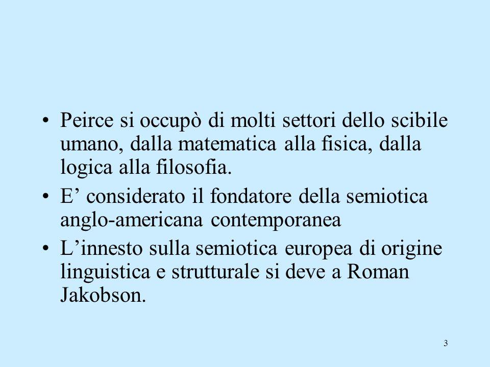 Peirce si occupò di molti settori dello scibile umano, dalla matematica alla fisica, dalla logica alla filosofia.