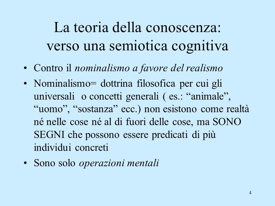 La teoria della conoscenza: verso una semiotica cognitiva
