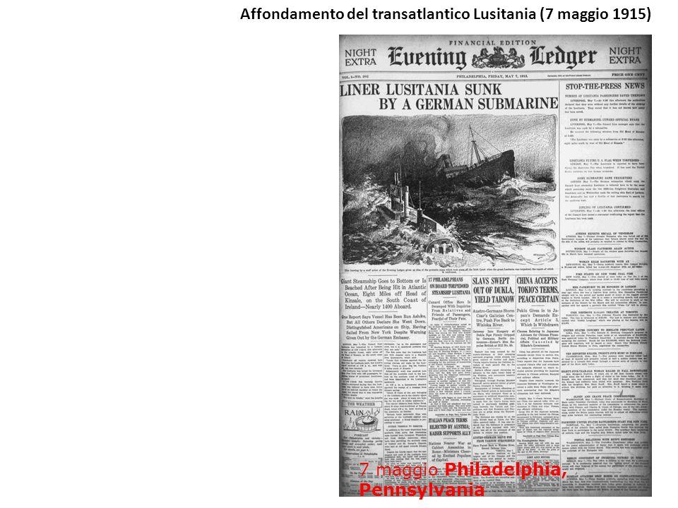 Affondamento del transatlantico Lusitania (7 maggio 1915)
