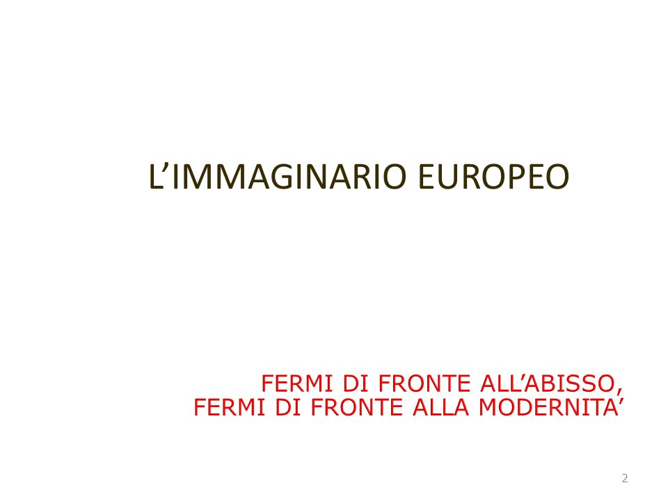 L'IMMAGINARIO EUROPEO