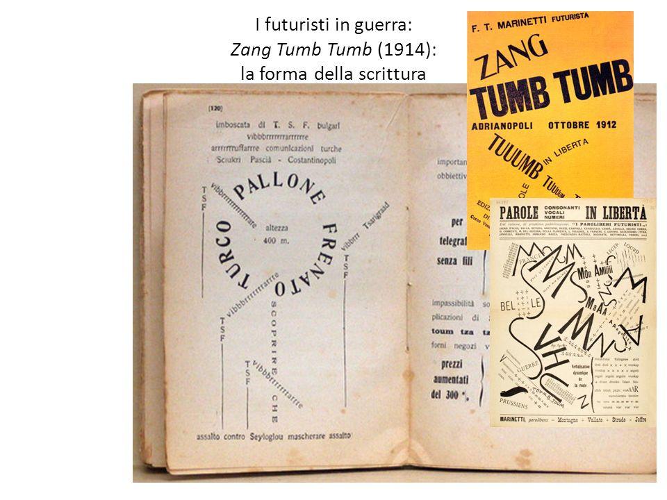 I futuristi in guerra: Zang Tumb Tumb (1914): la forma della scrittura