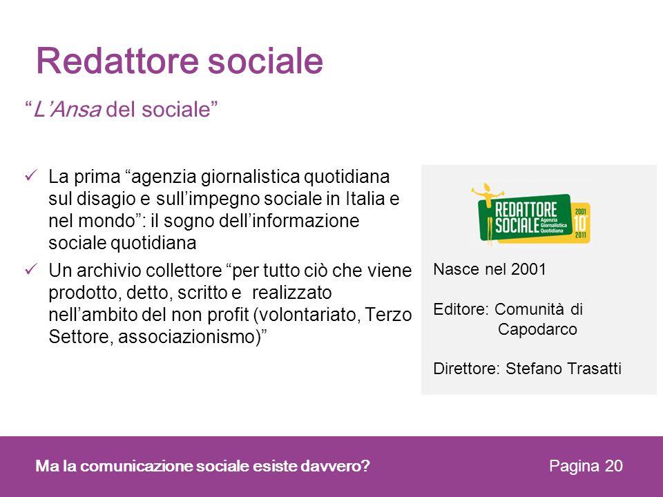 Redattore sociale L'Ansa del sociale