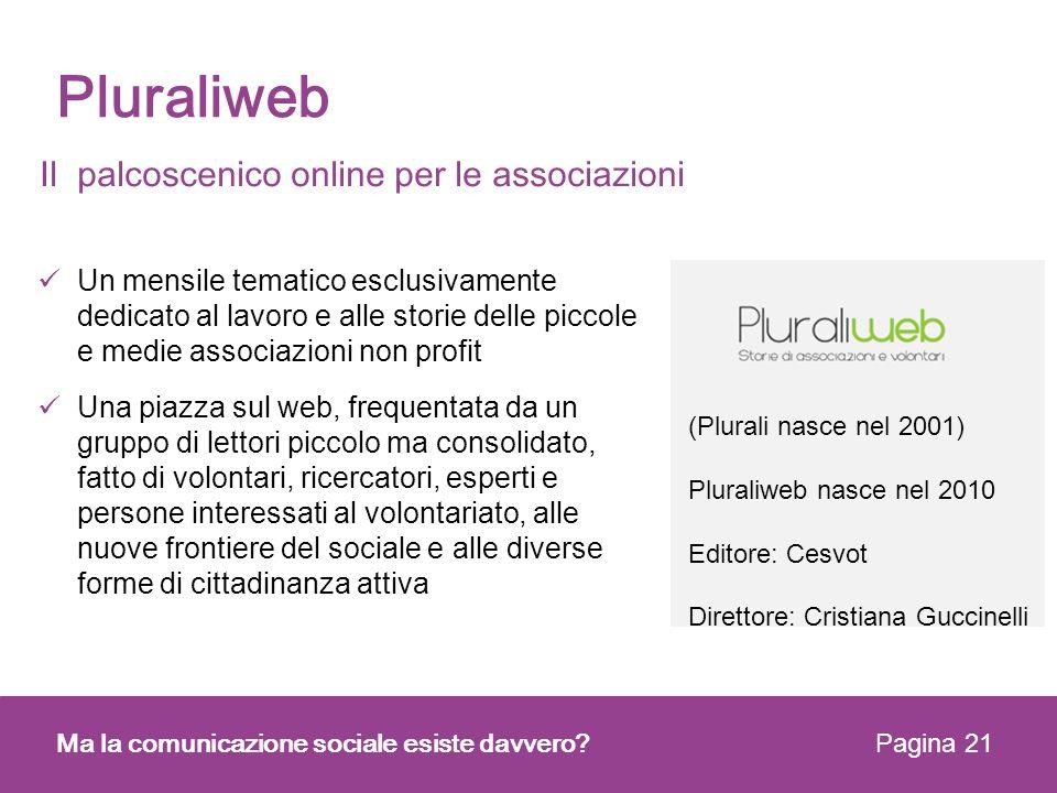 Pluraliweb Il palcoscenico online per le associazioni