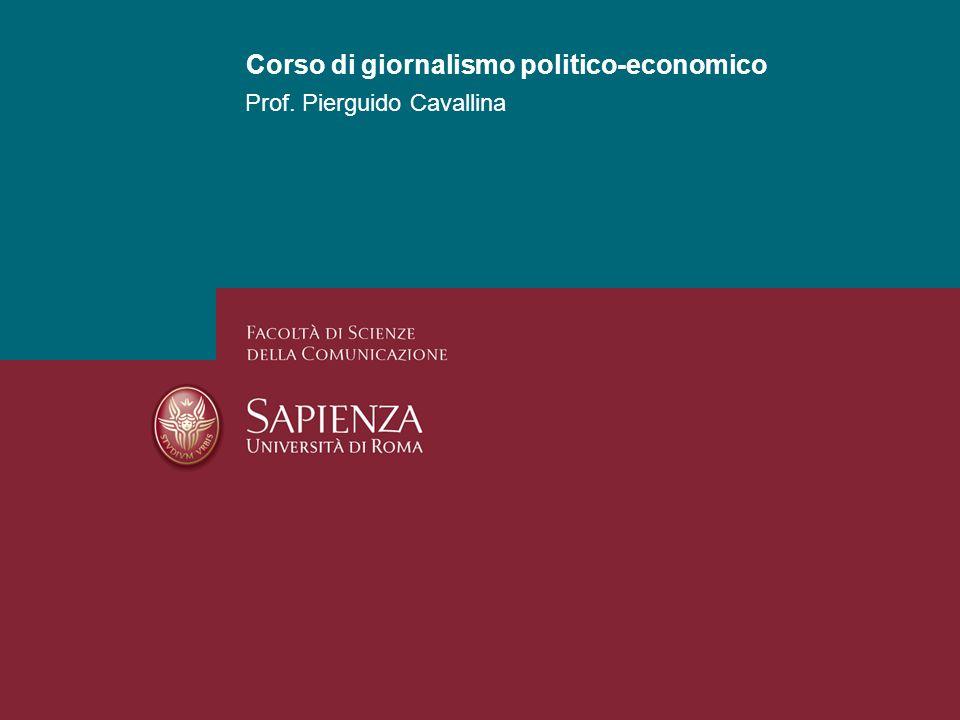 Corso di giornalismo politico-economico