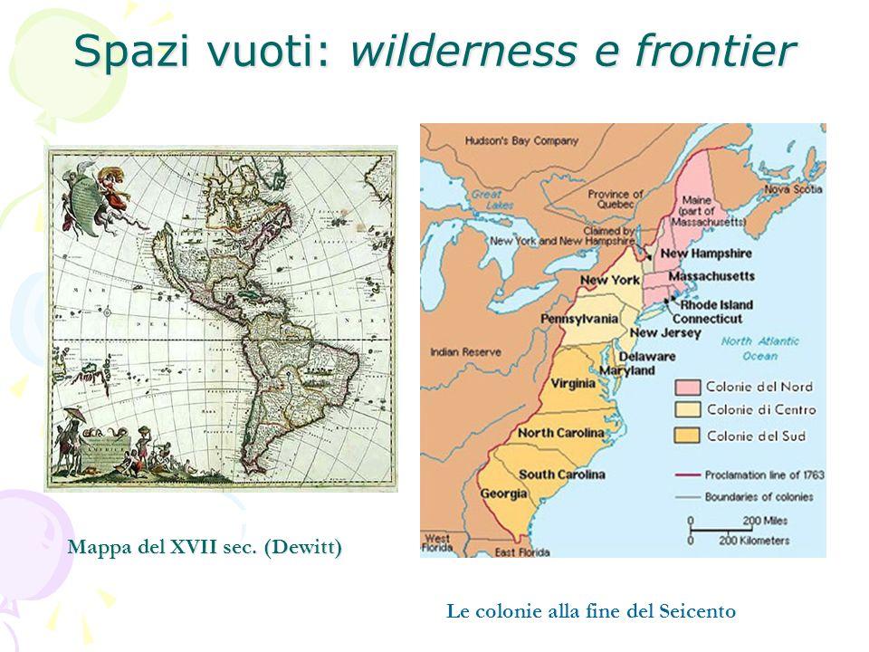 Spazi vuoti: wilderness e frontier