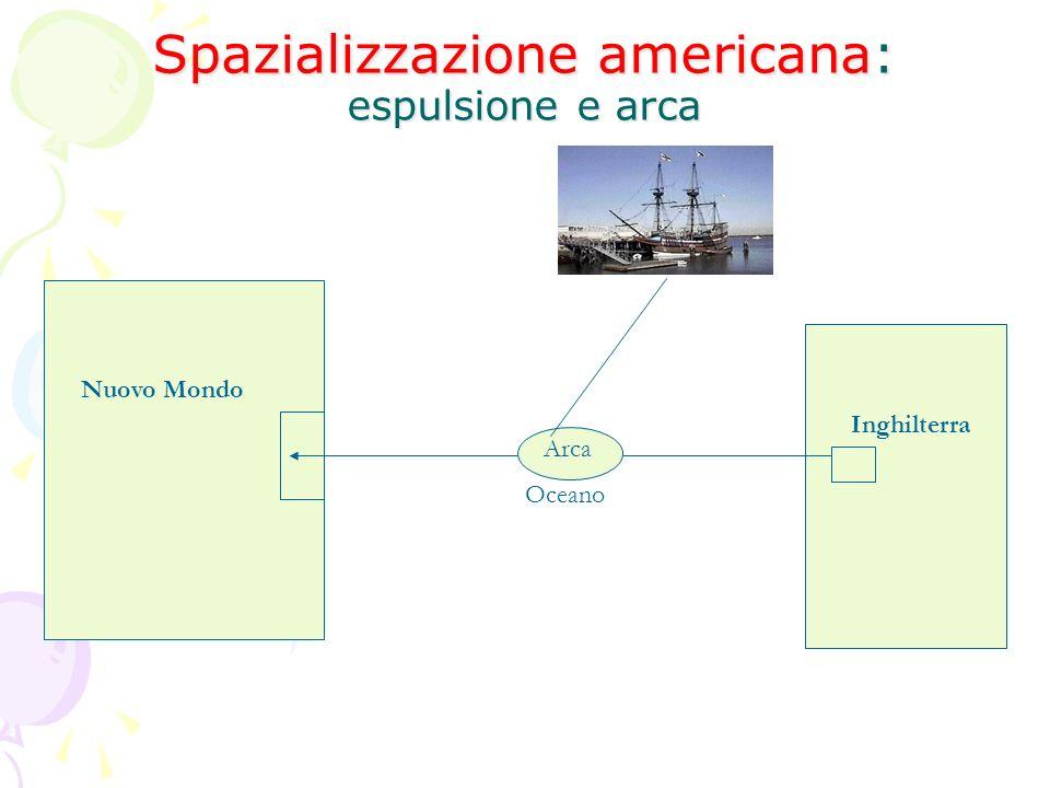 Spazializzazione americana: espulsione e arca