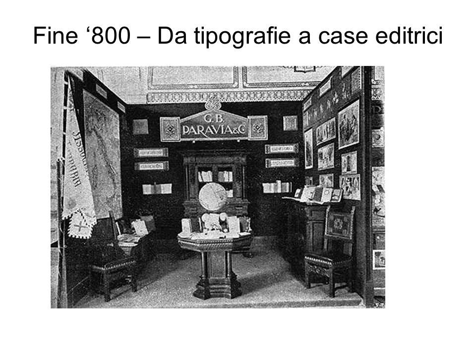 Fine '800 – Da tipografie a case editrici