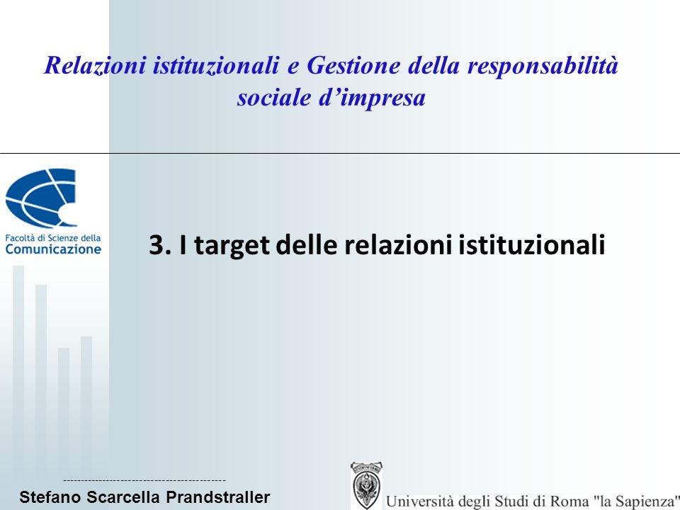 3. I target delle relazioni istituzionali