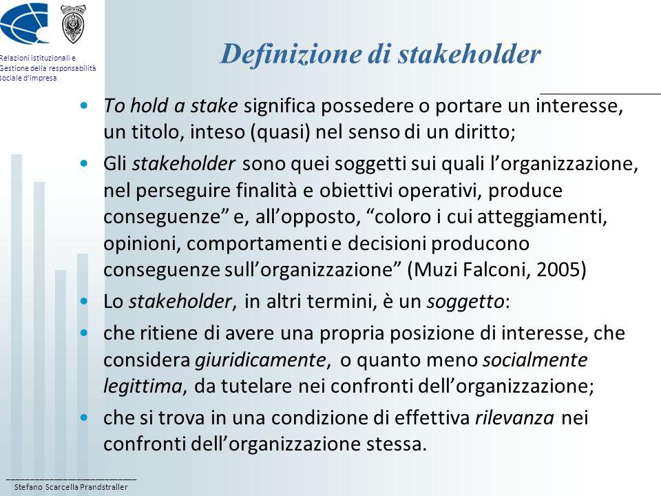Definizione di stakeholder