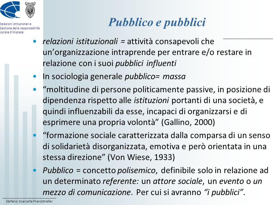 Pubblico e pubblici