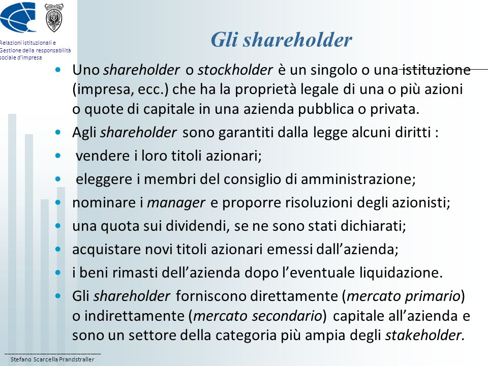 Gli shareholder
