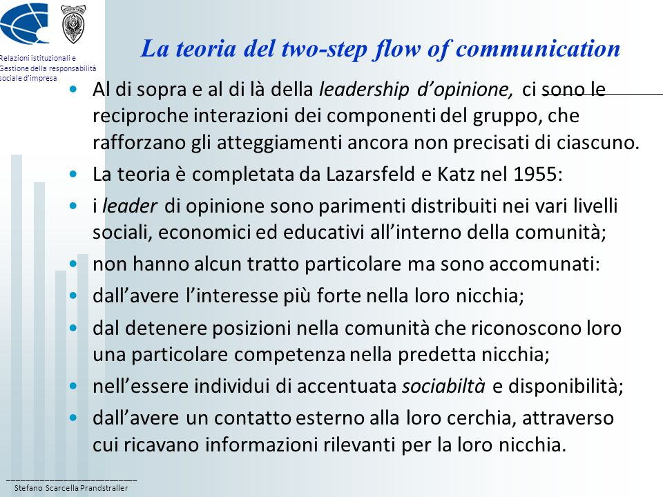 La teoria del two-step flow of communication