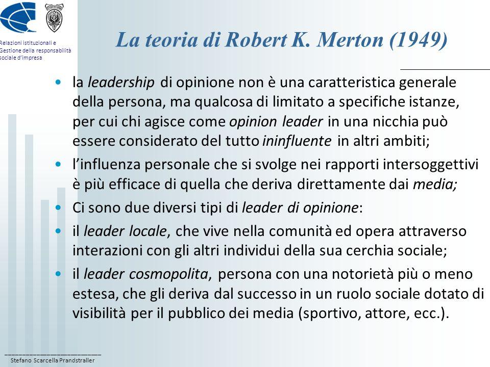 La teoria di Robert K. Merton (1949)