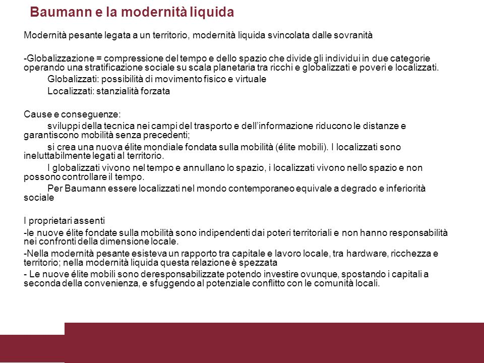 Baumann e la modernità liquida