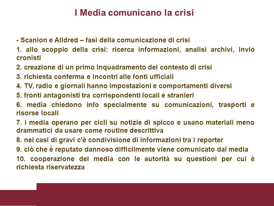 I Media comunicano la crisi