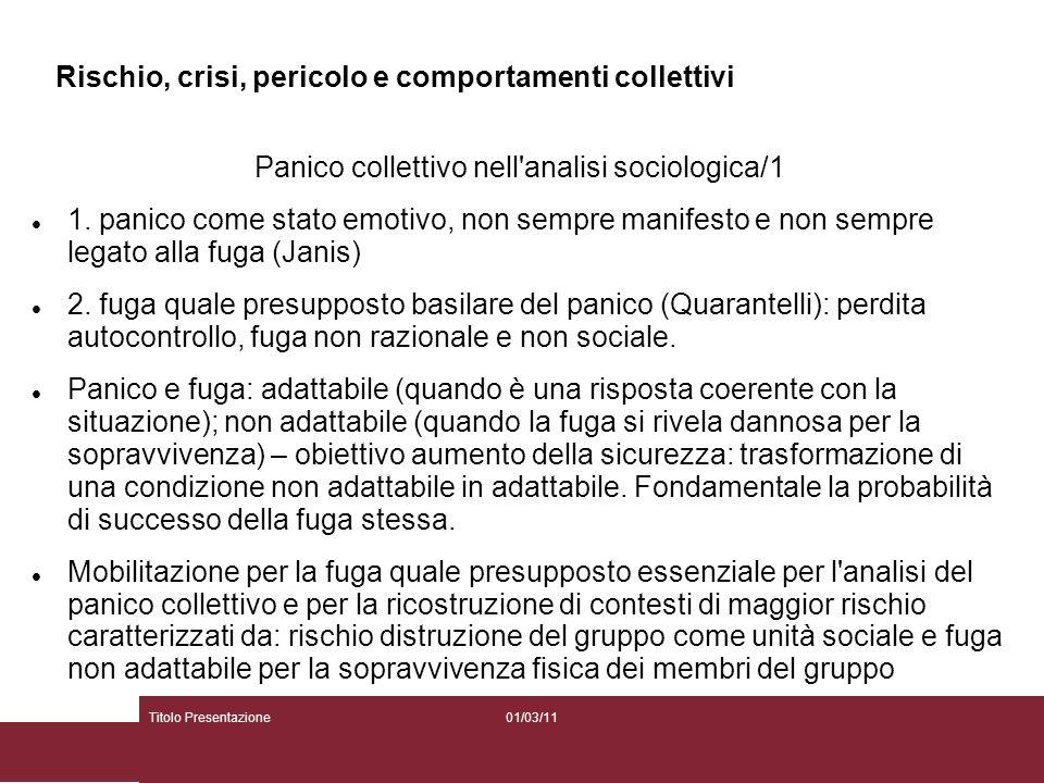 Panico collettivo nell analisi sociologica/1