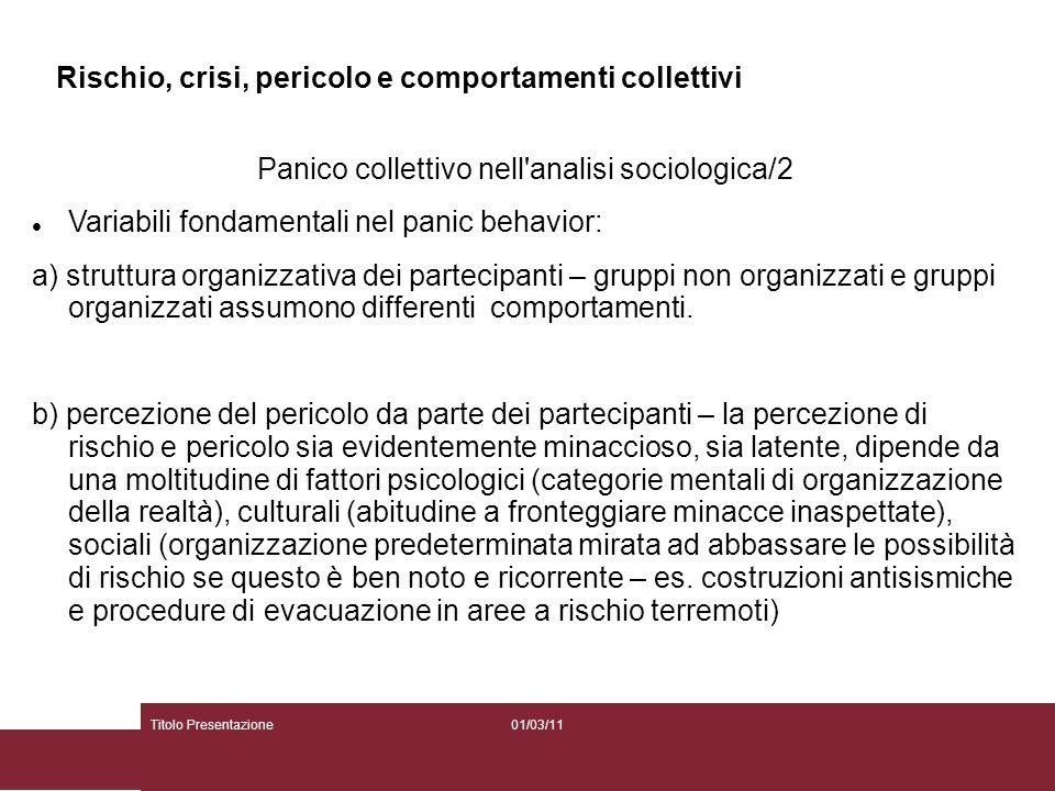 Panico collettivo nell analisi sociologica/2
