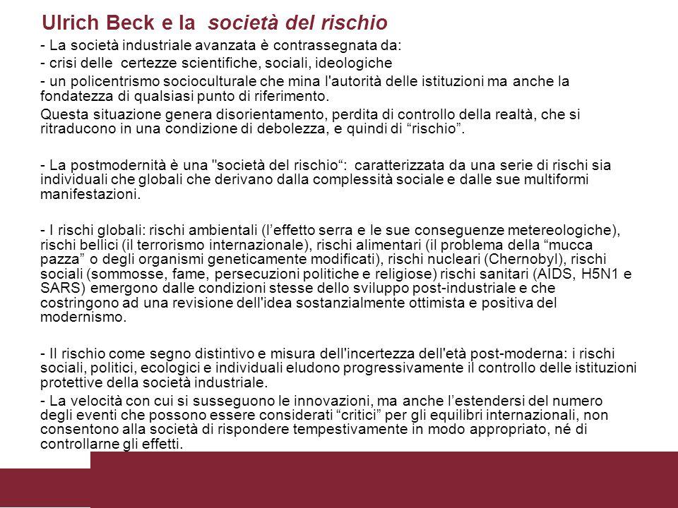 Ulrich Beck e la società del rischio