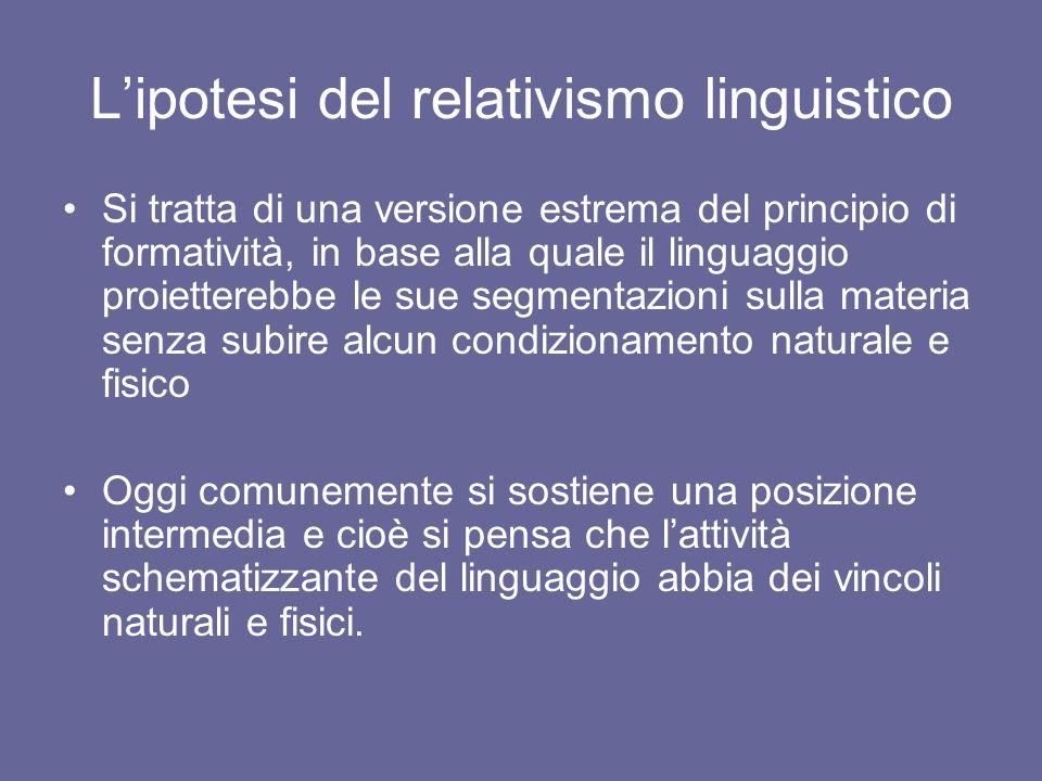 L'ipotesi del relativismo linguistico