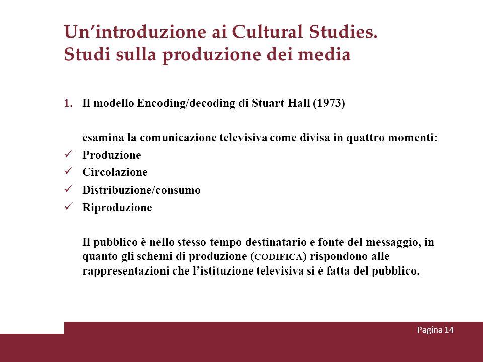 Un'introduzione ai Cultural Studies. Studi sulla produzione dei media