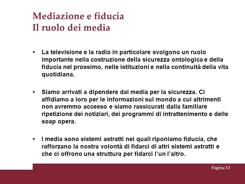 Mediazione e fiducia Il ruolo dei media