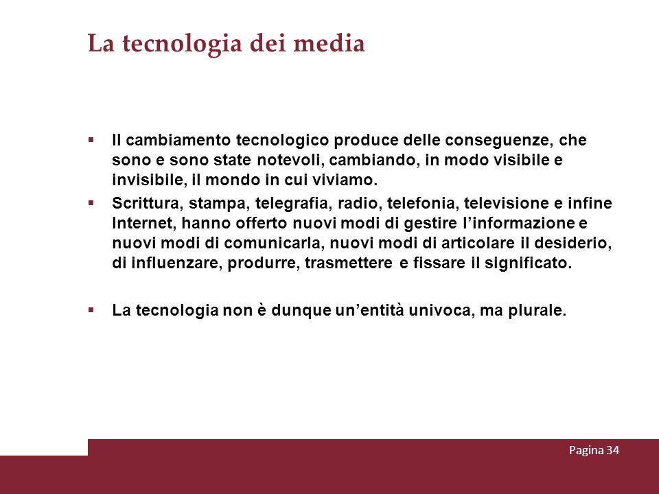 La tecnologia dei media