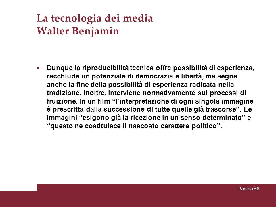La tecnologia dei media Walter Benjamin