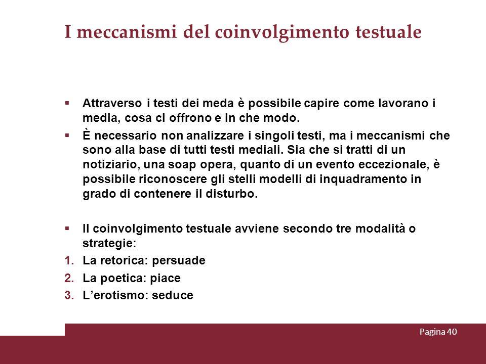 I meccanismi del coinvolgimento testuale