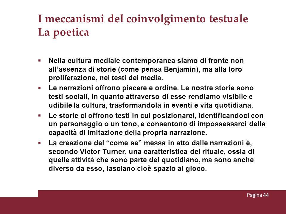 I meccanismi del coinvolgimento testuale La poetica
