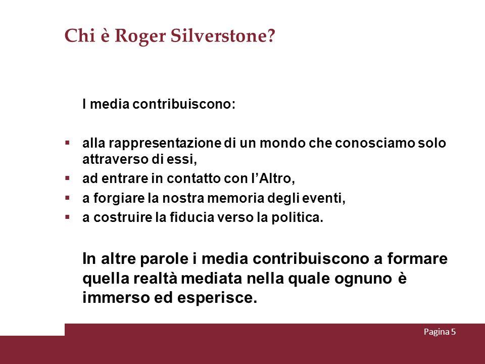 Chi è Roger Silverstone