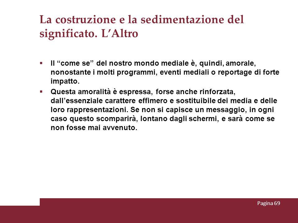 La costruzione e la sedimentazione del significato. L'Altro