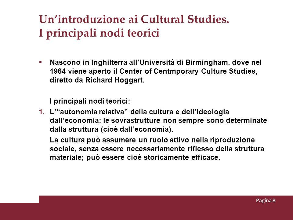 Un'introduzione ai Cultural Studies. I principali nodi teorici
