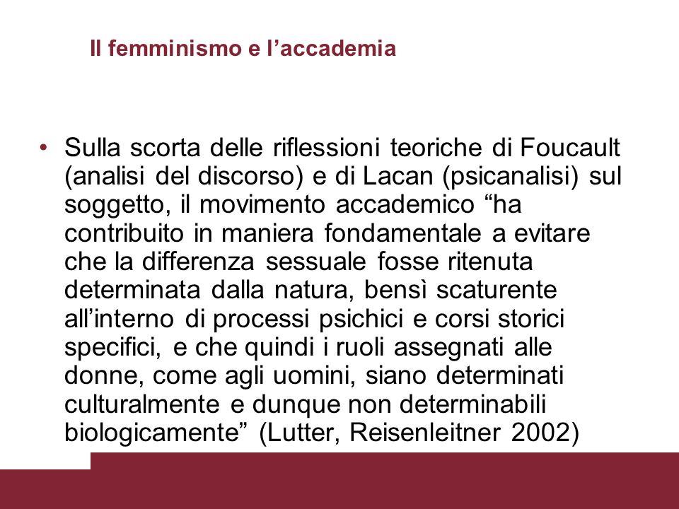 Il femminismo e l'accademia