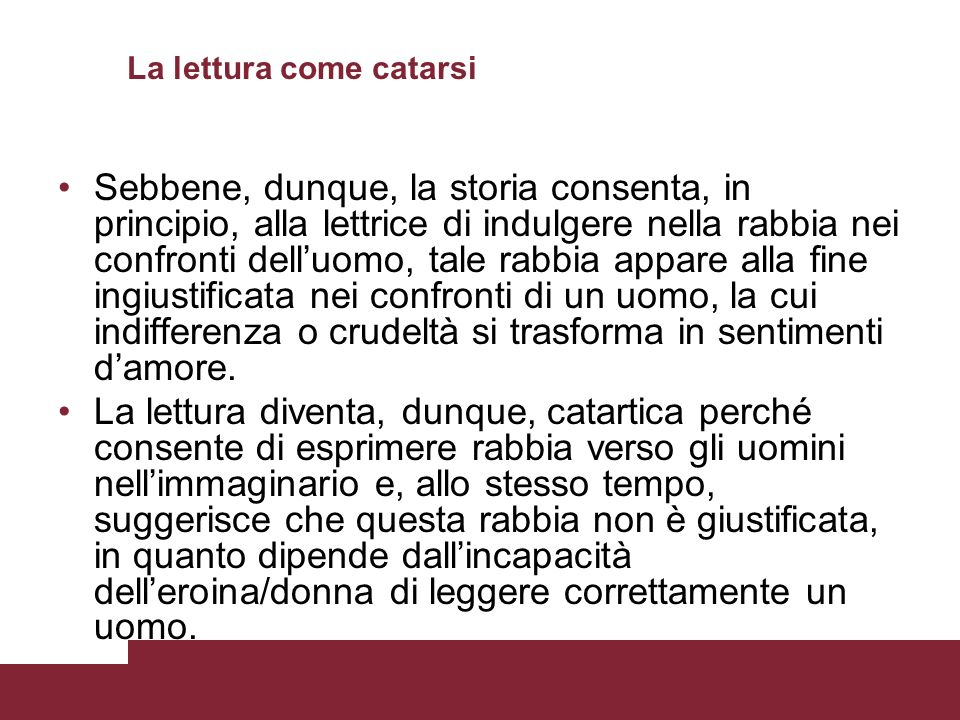 La lettura come catarsi