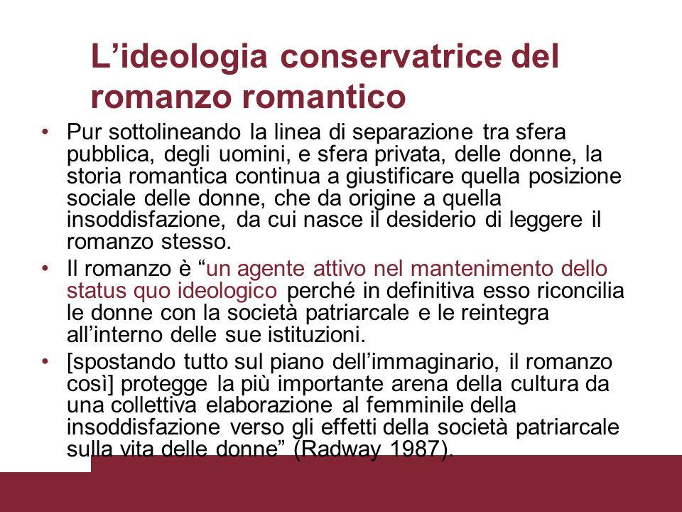 L'ideologia conservatrice del romanzo romantico