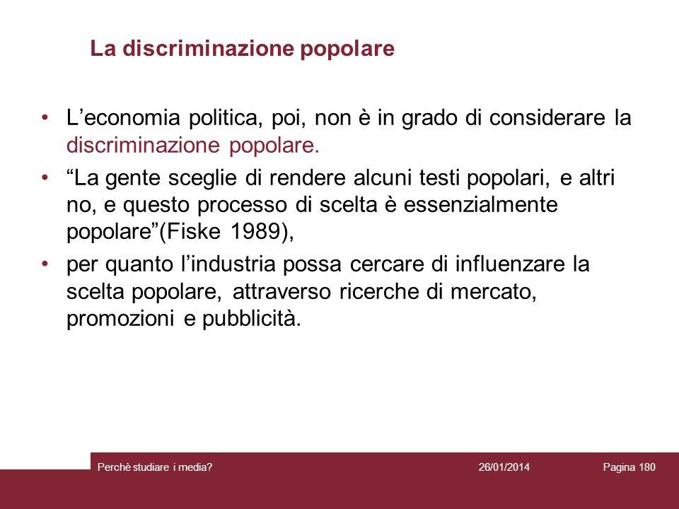 La discriminazione popolare