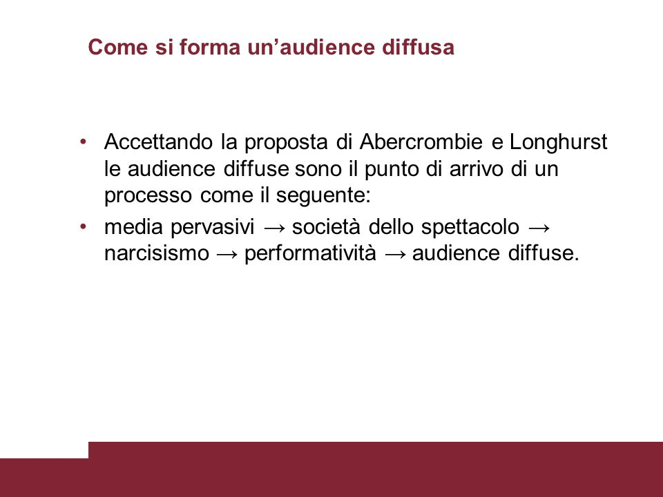 Come si forma un'audience diffusa