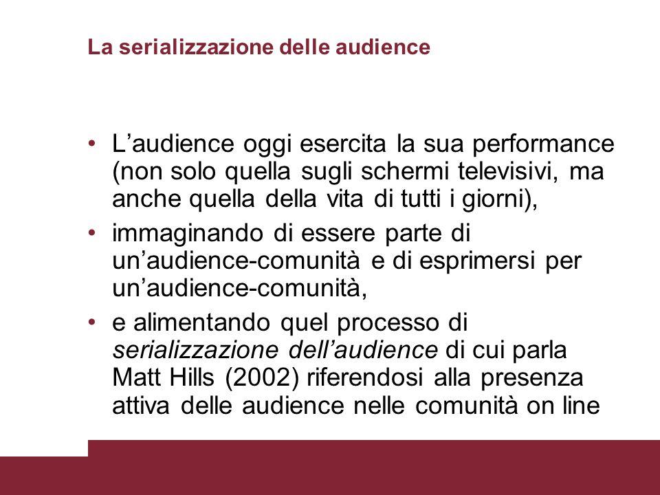 La serializzazione delle audience