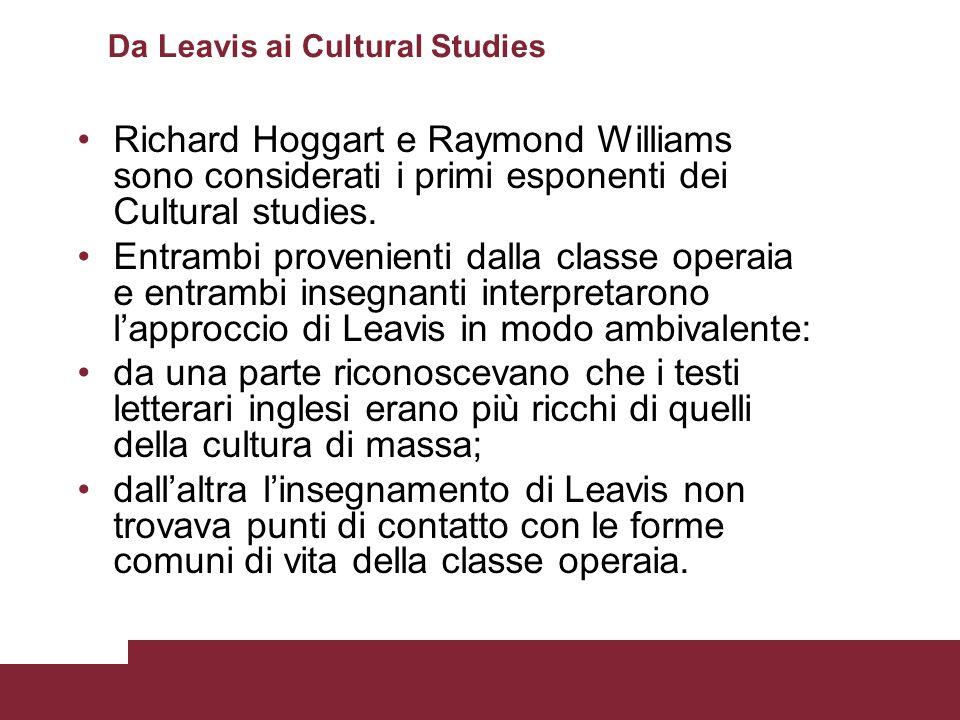Da Leavis ai Cultural Studies