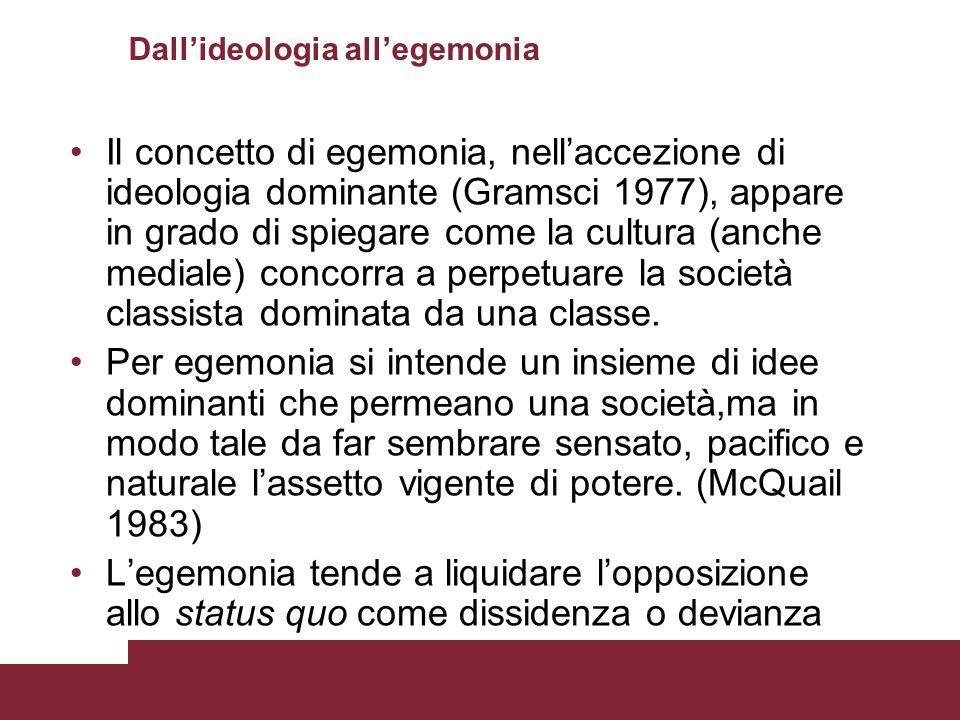 Dall'ideologia all'egemonia