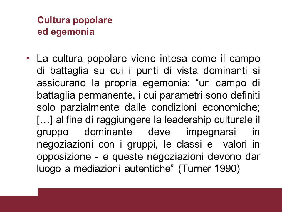 Cultura popolare ed egemonia