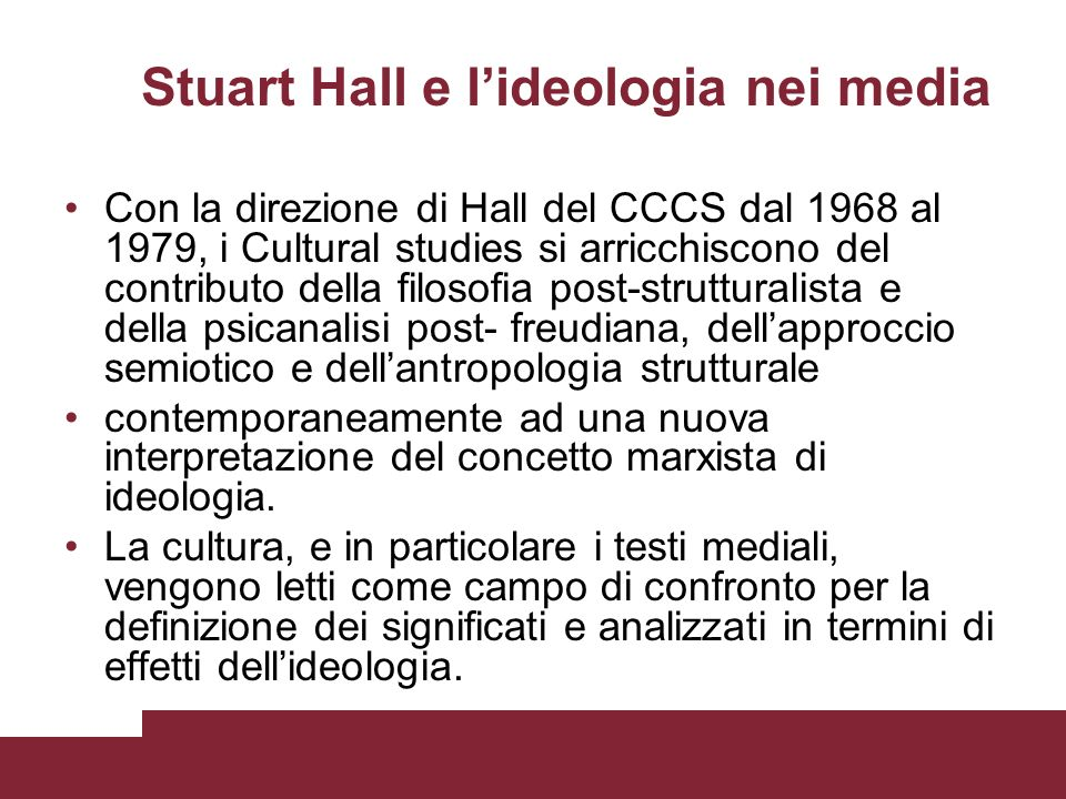 Stuart Hall e l'ideologia nei media
