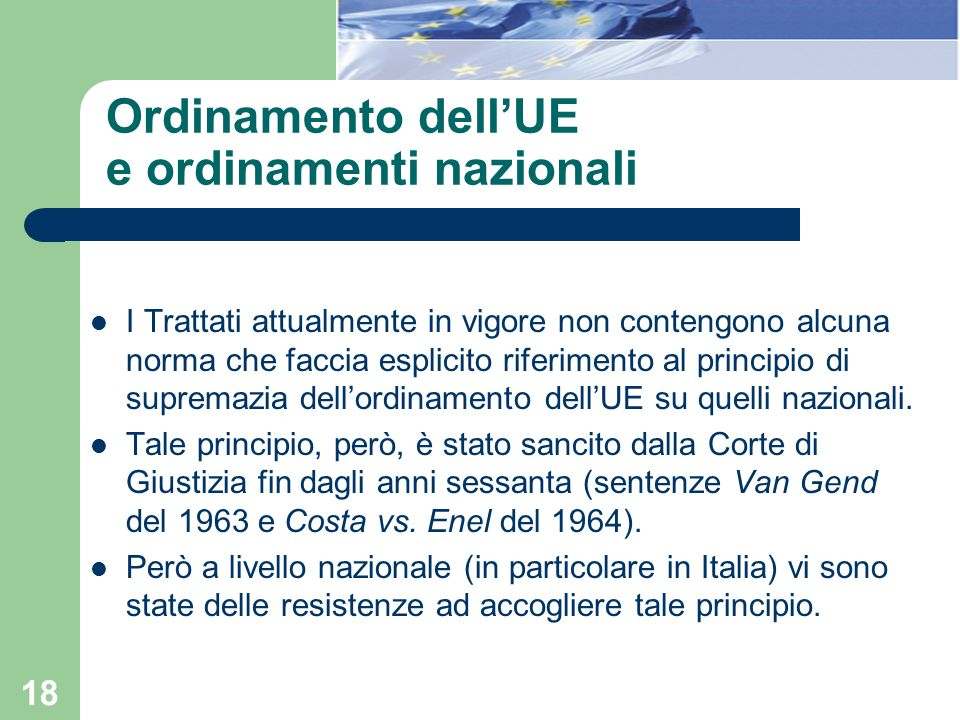 Ordinamento dell'UE e ordinamenti nazionali