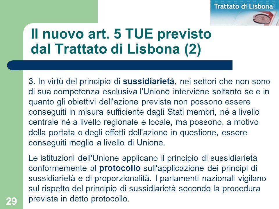 Il nuovo art. 5 TUE previsto dal Trattato di Lisbona (2)