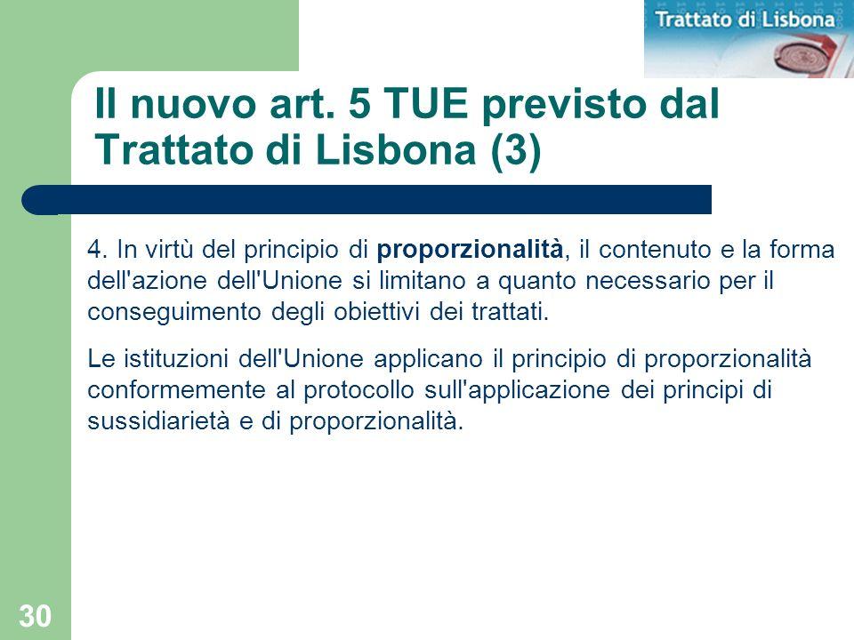 Il nuovo art. 5 TUE previsto dal Trattato di Lisbona (3)