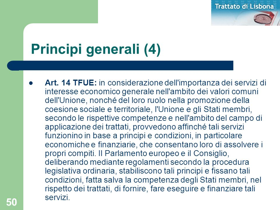 Principi generali (4)