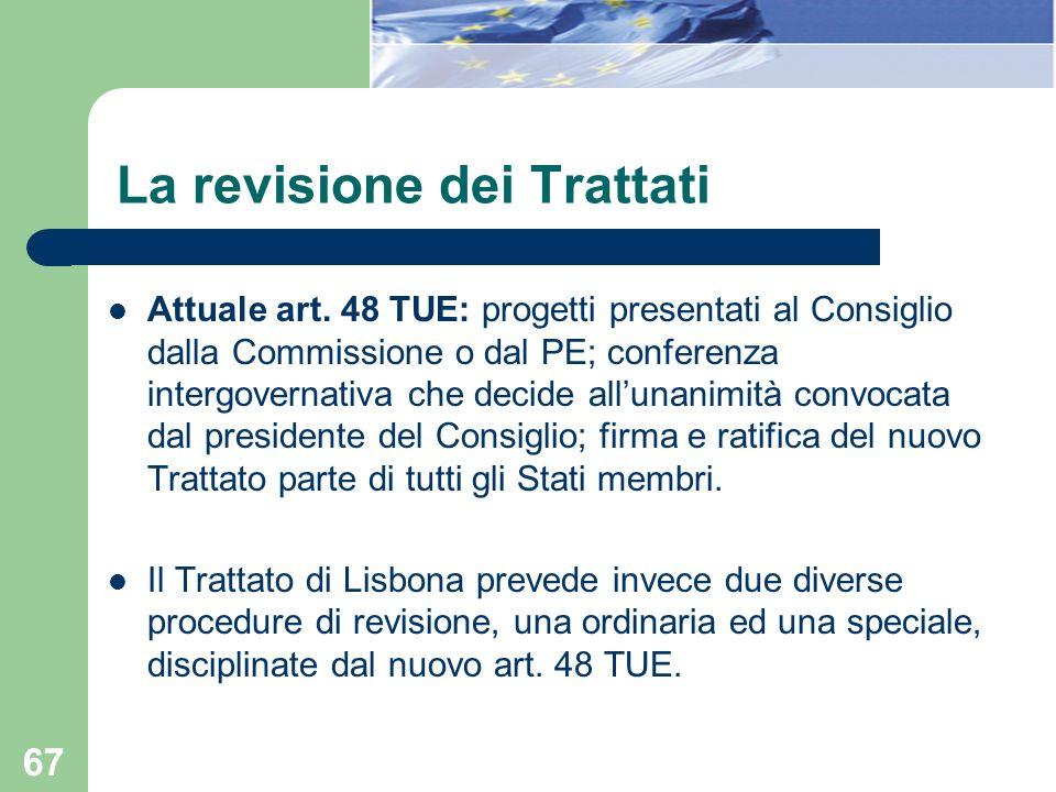 La revisione dei Trattati